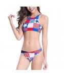American Flag High Neck Bikini Set