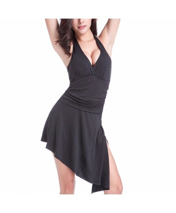 Convertible Halter One Piece Swimsuit Dress