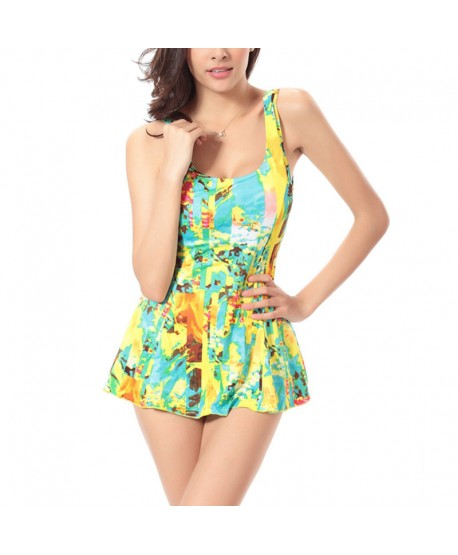 Plus Size Printed One Piece Swimsuit