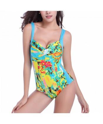 Plus Size Push Up One Piece Swimsuit