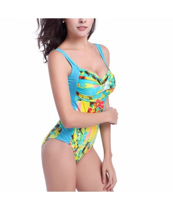 Plus Size Push Up One Piece Swimsuit