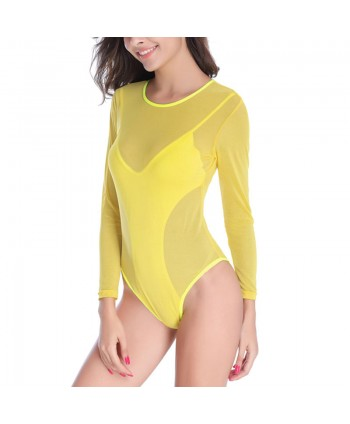 Mesh Panel One Piece Swimsuit
