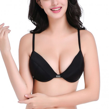 Black Push Up Underwire Bikini Top