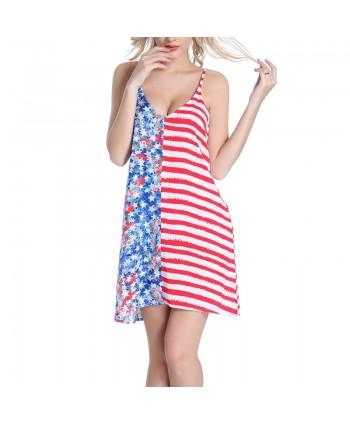 American Flag Beach Cover Up Dress