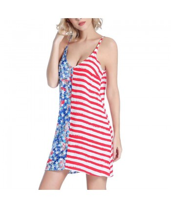 American Flag Beach Cover Up Dress