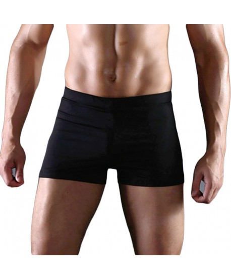 Plus Size Black Swimming Trunks