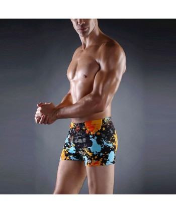 Plus Size Print Swim Trunks