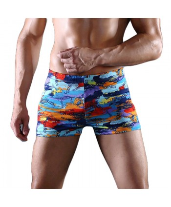 Plus Size Printed Swim Trunks