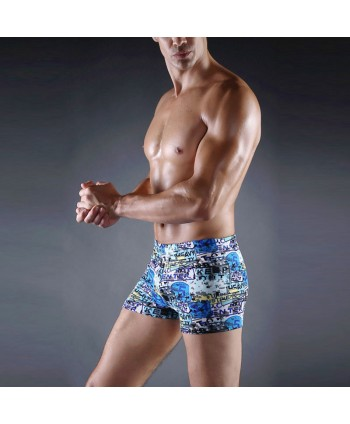 Plus Size Patterned Swim Trunks