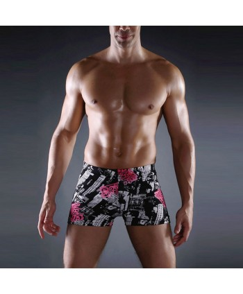 Plus Size Patterned Swimming Trunks