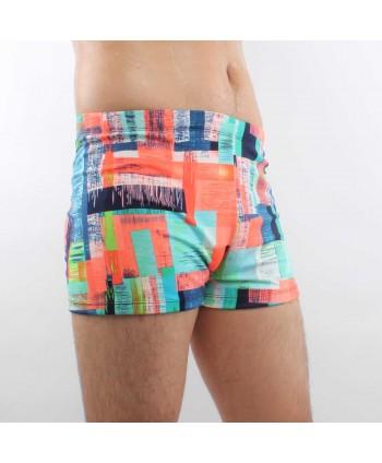 Plus Size Mutlicolor Swim Trunks