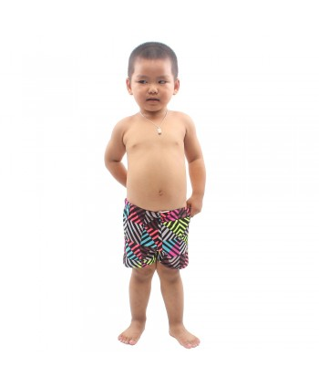 Little Boys Multicolor Stripes Swim Trunks