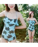 Palm Tree Flounce One Piece Swimsuit