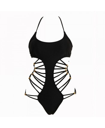 Strappy Cheeky One Piece Swimsuit
