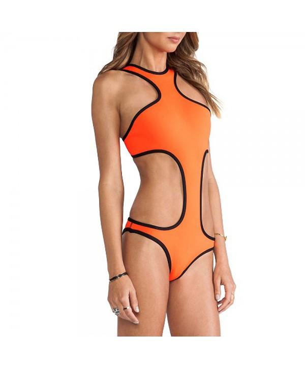 High Neck Racerback One Piece Swimsuit
