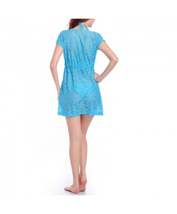Plunging Lace Cover Up Dress