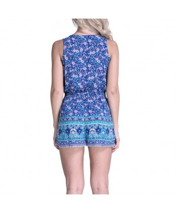 Floral Sleeveless Beach Romper