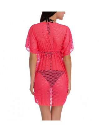 Solid Knit See-Through Cover Up