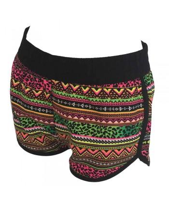 Tribal Print Beach Shorts