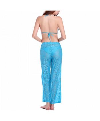 See Through Lace Beach Pants