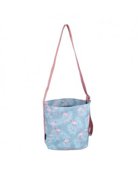Flamingo Waterproof Crossbody Bucket Bag