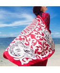 Lion Print Tribal Beach Wrap Scarf