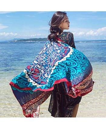 Tribal Print Beach Shawl Wrap