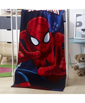 Spiderman Print Childrens Beach Towel
