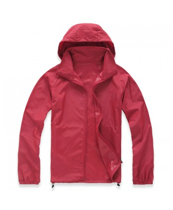Unisex Hooded Packable UV Protect Windbreaker Jacket