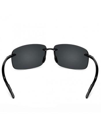 Mens Vintage Frameless Rectangular Sunglasses