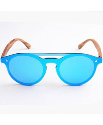 Wood Round Polarized Tinted Sunglasses