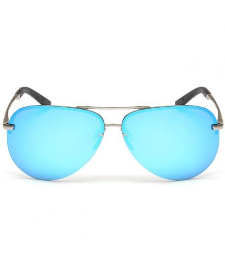 Half Rim Polarized Sunglasses for Men