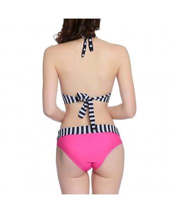 Polka Dot Halter Bikini Set
