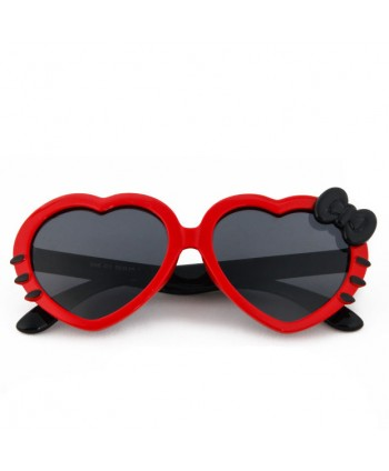 Kids Soft Silicone Heart Shaped Cute Polarized Sunglasses