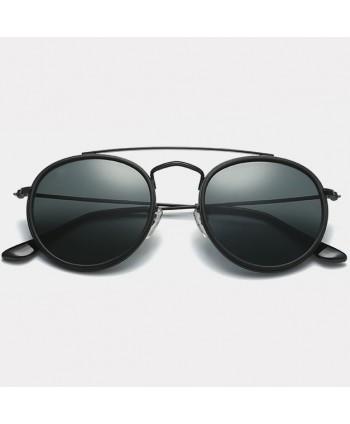 Unisex Retro Round Sunglasses Metal Frame