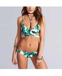 Crisscross Leaf Print Bikini Set