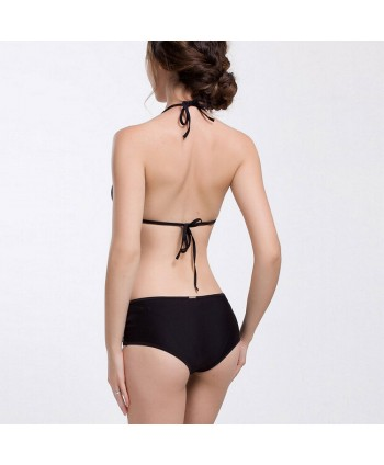 Halter Hollow Out Bikini Set