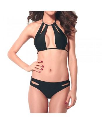 Cutout Halter Bikini Set