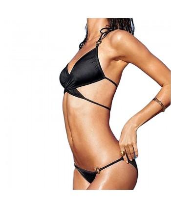 Criss Cross Halter Bikini Set