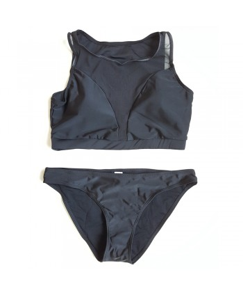 Mesh Insert Sporty Bikini Set