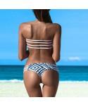 Geometric Bandeau Bikini Set
