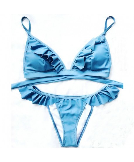 Cute Ruffle Bikini Set