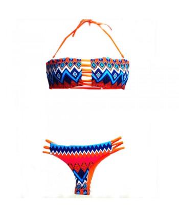 Zigzag Strappy Bikini Set