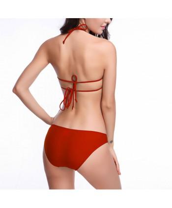 Halter Bandeau Bikini Set