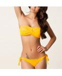 Twist Ruched Bandeau Bikini Set