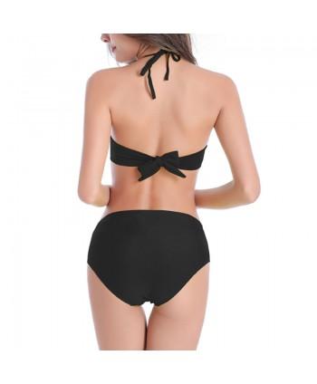 Halter Flounce Bikini Set