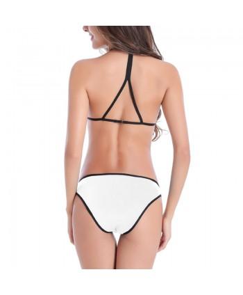 Contrast Piping Padded Bikini Set
