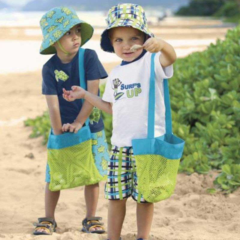 2 Pack Kids Mesh Beach Tote Toy Bag