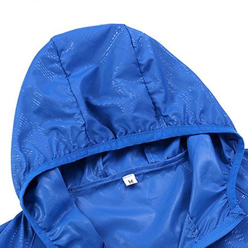 skin windbreaker hooded jacket