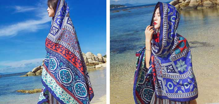 bohemian beach shawl wrap